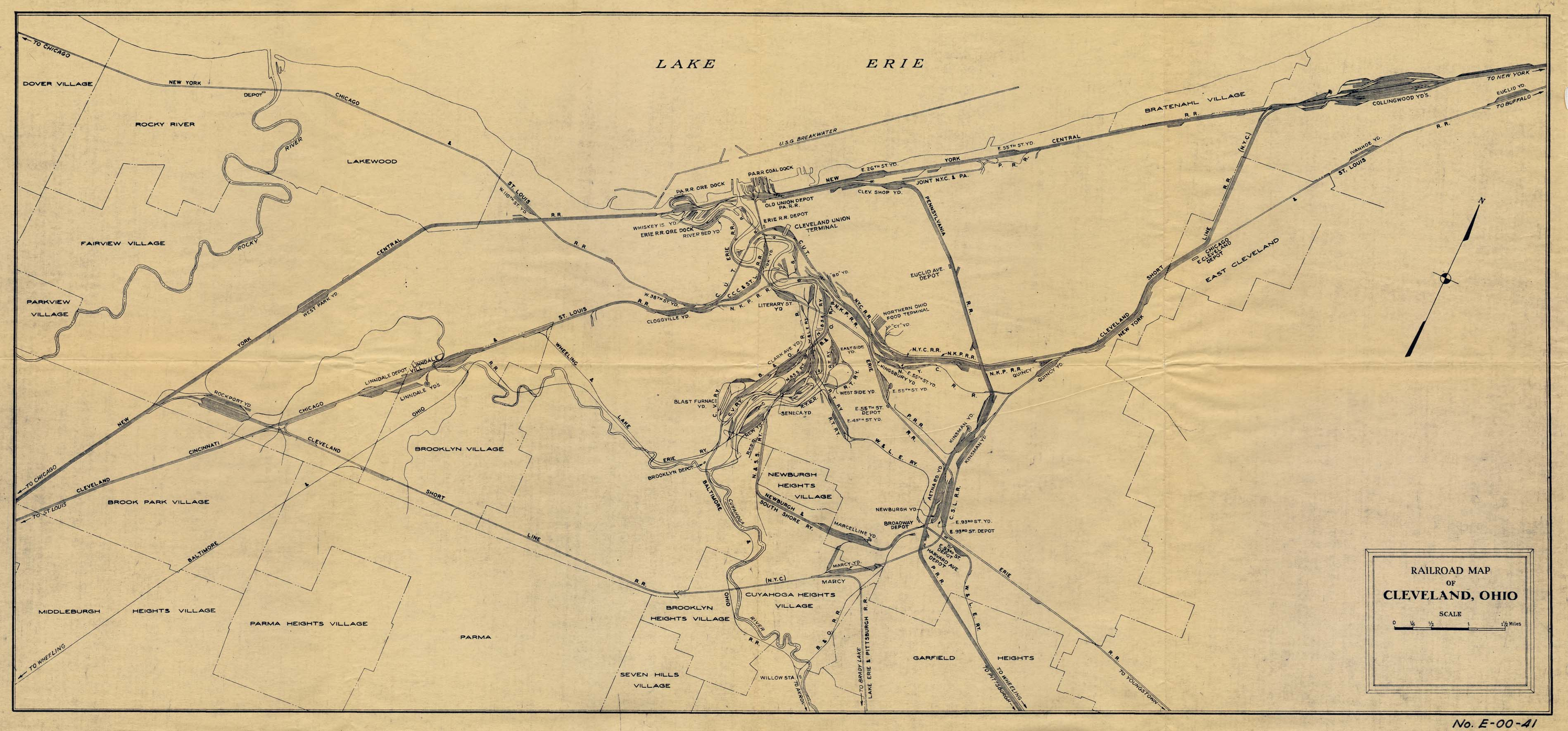 Ohio historical railroad maps