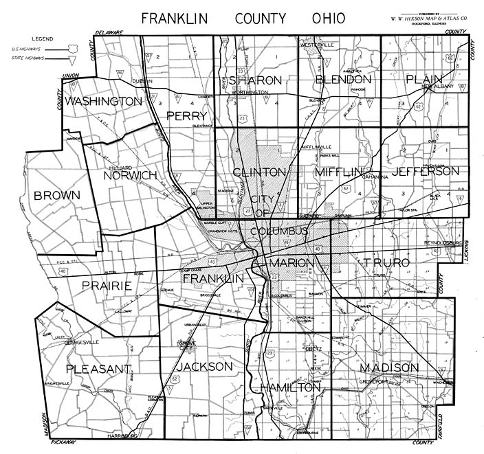 Hixson 1930's Franklin County Plat Maps: Franklin County Plat Maps At Slyspyder.com