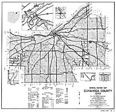Ohio County Highway Maps 1940