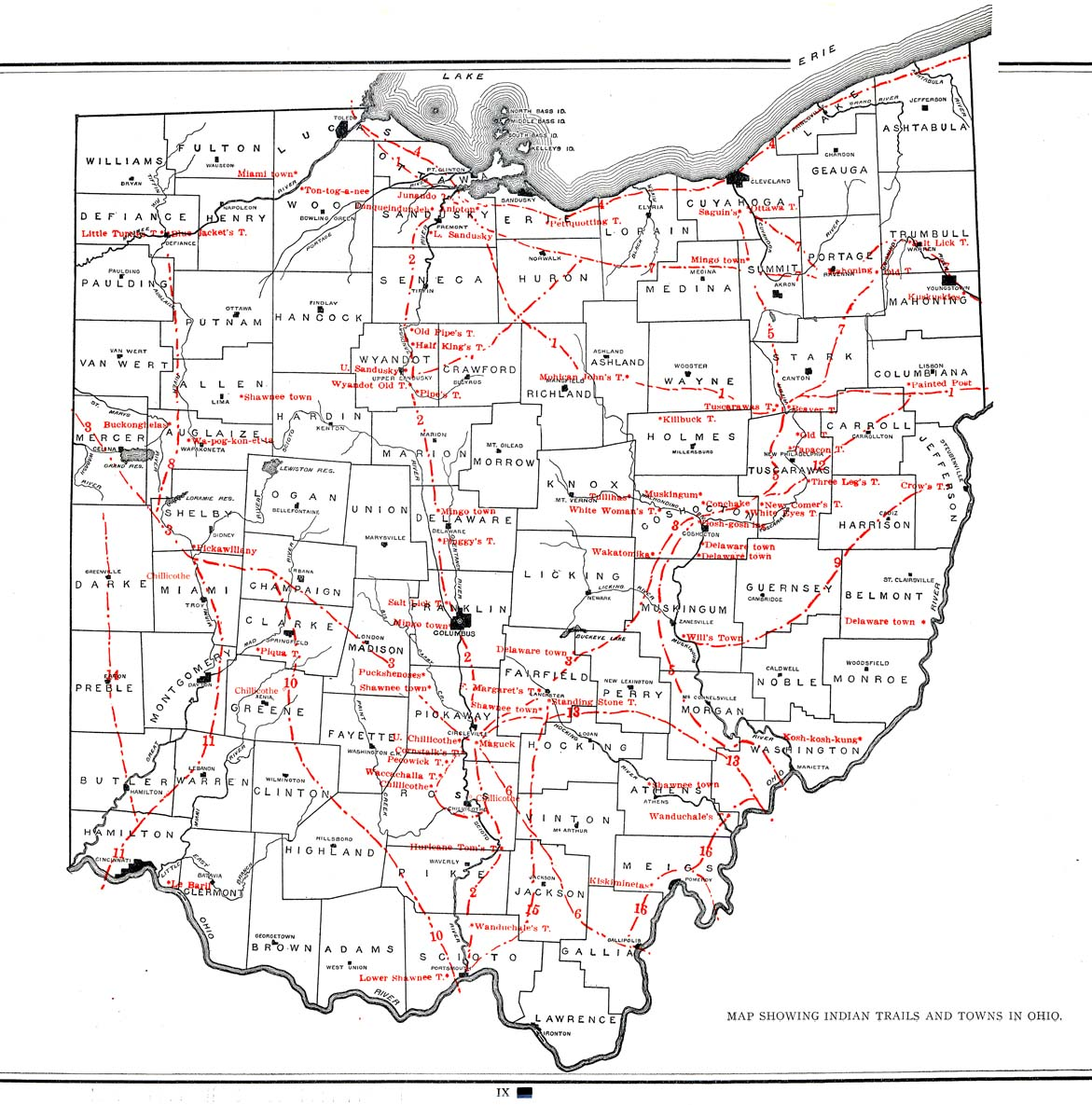 Worksheet. Indian Trails and Towns in Ohio
