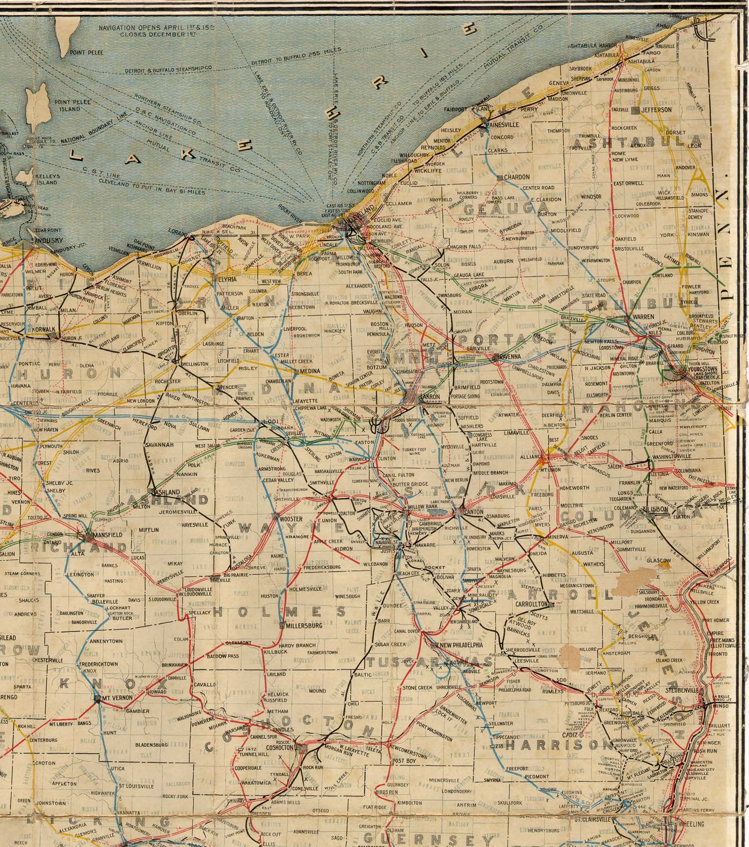 Railroad Map Of Ohio - Map ohio