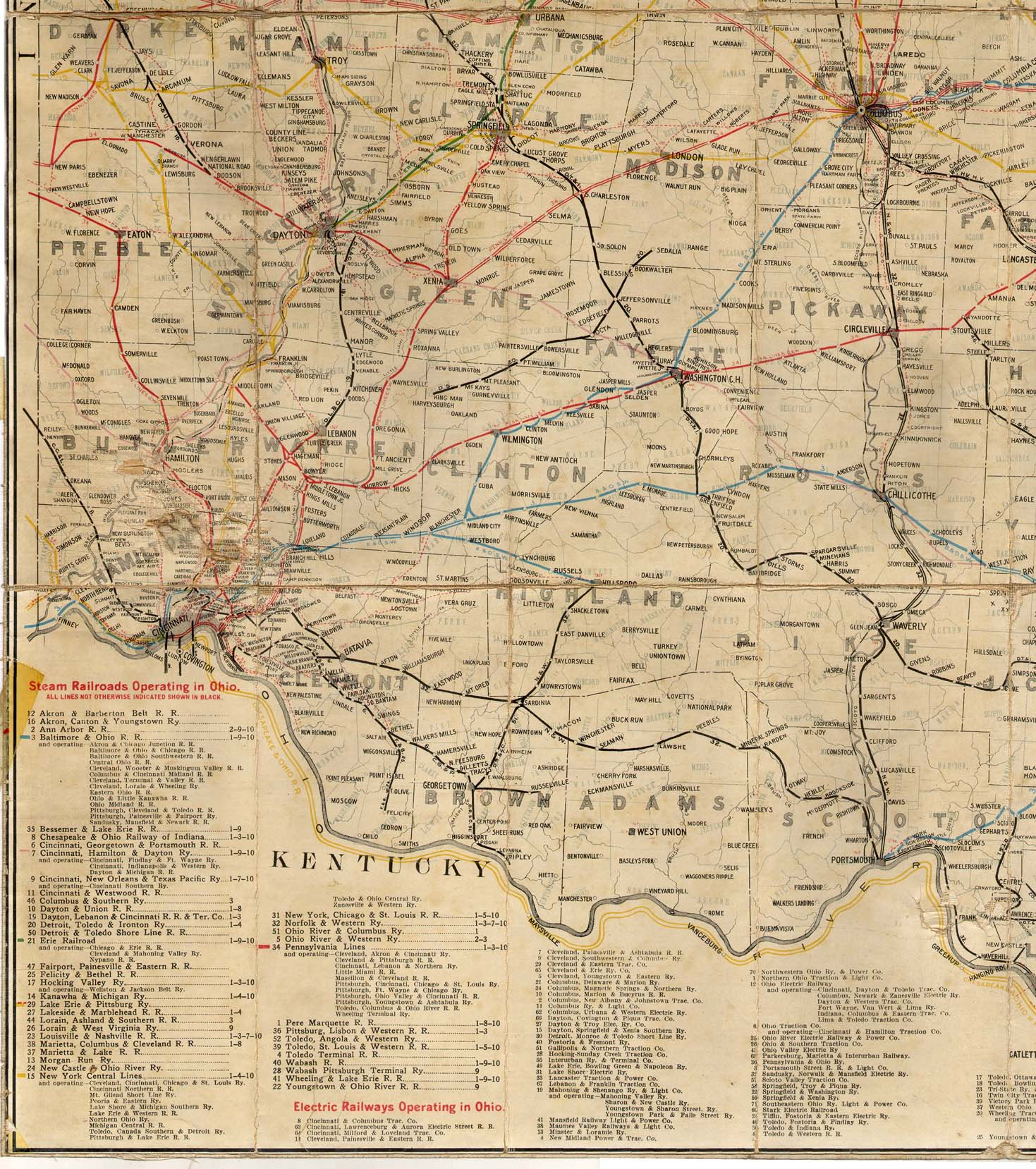 Railroad Map Of Ohio - Maps of ohio