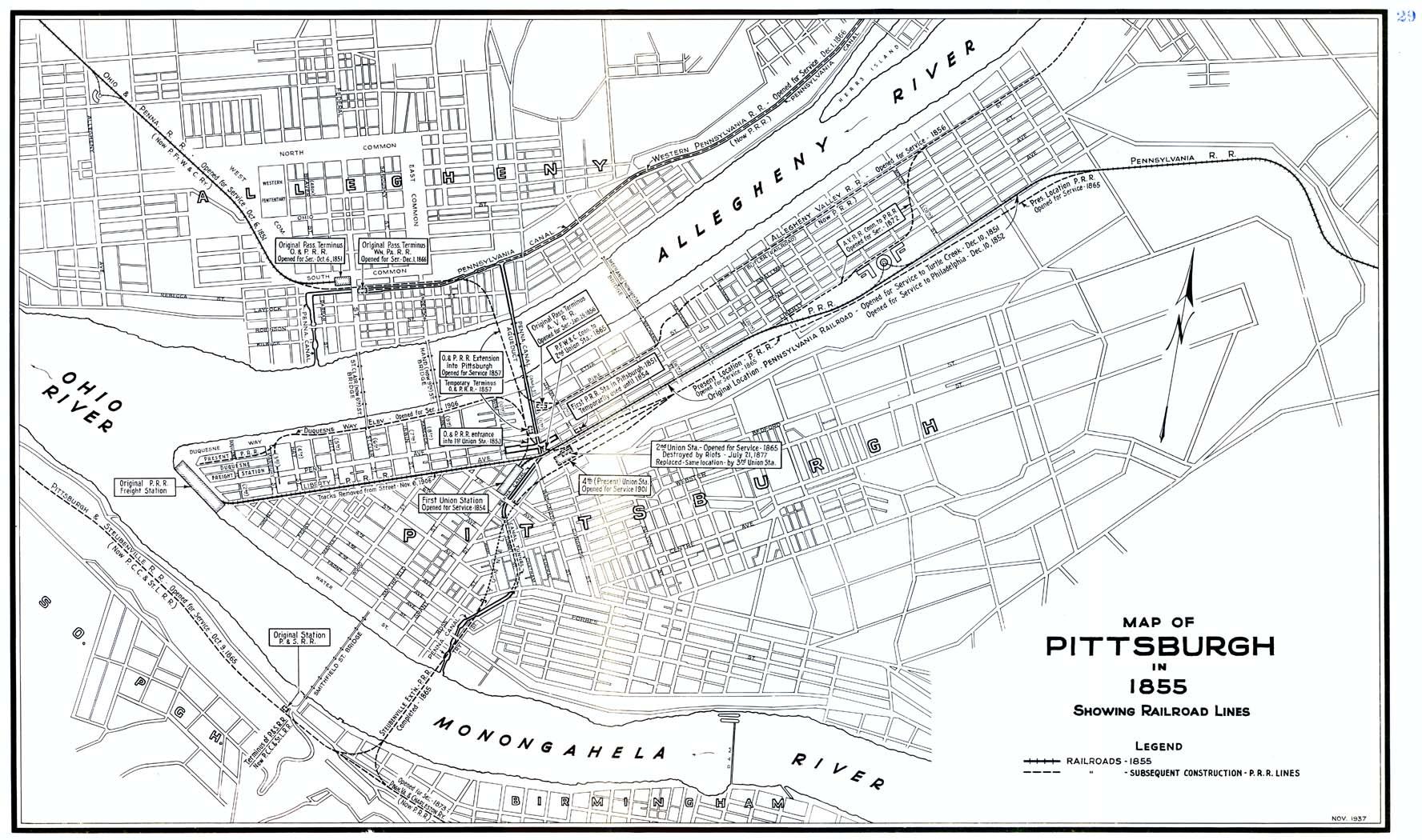 pittsburgh maps - pennsylvania railroad pittsburgh